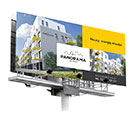 Baner, billboard - Panorama